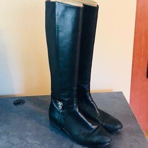 Michael Kors Black Leather Riding Boots Sz 8.5